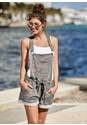 Front View French Terry Short Overalls