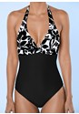 Detail front view Slimming Halter One-Piece
