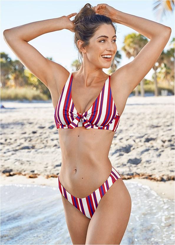 Underwire Retro Bikini Top,High Leg Bikini Bottom,Scoop Front Classic Bikini Bottom ,Lattice Side Bikini Bottom