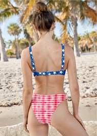 Back View High Leg Bikini Bottom