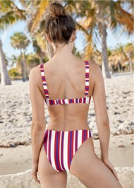 Back View High Leg Bikini Bottom