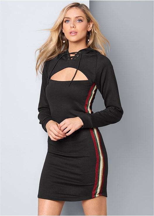 STRIPE LOUNGE DRESS