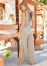 Cropped back view Cover-Up Jumpsuit
