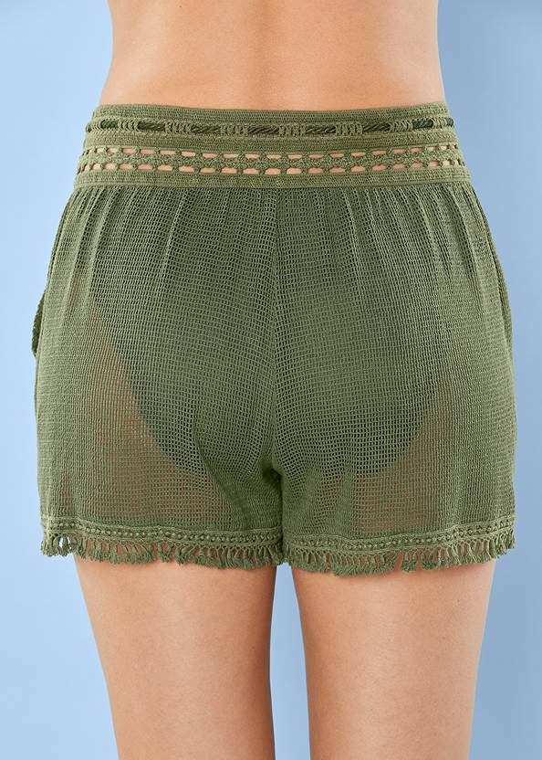 Detail  view Braid Detail Mesh Shorts