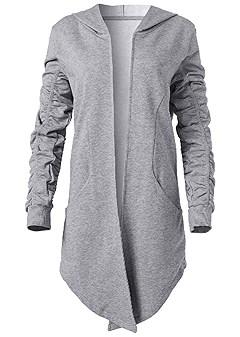 plus size asymmetrical lounge hoodie