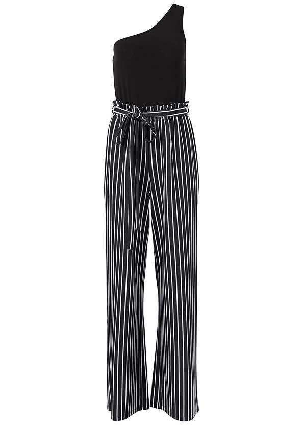 Paperbag Stripe Jumpsuit,Steve Madden B Corina,Striped Sequin Backpack