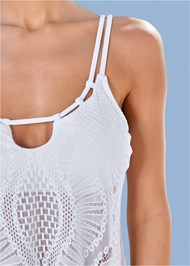 Alternate View Strappy Lace Tankini