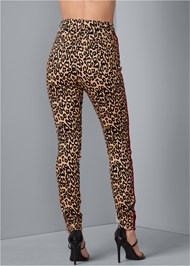 Back View High Rise Leopard Pants