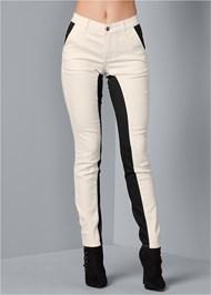 Front View Color Block Pants