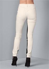 Back View Color Block Pants