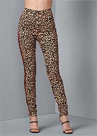 Front View High Rise Leopard Pants