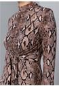 Alternate View Python Print Bodycon Dress