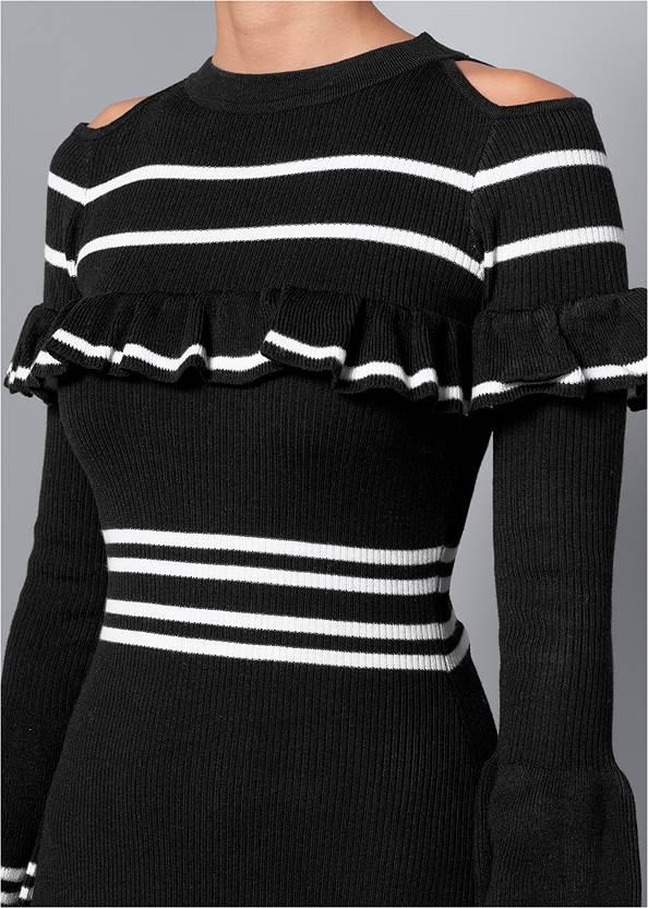 Alternate View Stripe Print Sweater Dress