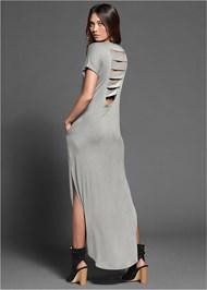 Slash Detail Maxi Dress