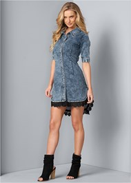 Alternate View Denim Lace Dress