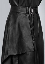 Alternate View Faux Leather Wrap Dress