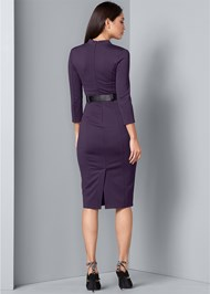 Back View Belted Dress