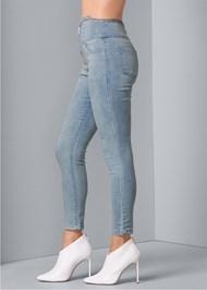 Alternate View Zipper High Waist Jeans