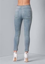Back View Zipper High Waist Jeans