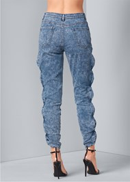 Back View Acid Wash Jeans