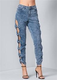 Front View Acid Wash Jeans