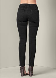 Back View Jewel Ripped Jeans