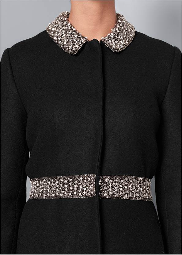 Detail  view Embellished High Low Coat