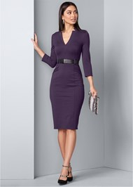 Front View Belted Dress