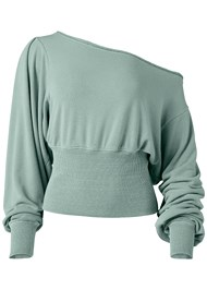 Alternate View Off The Shoulder Sweatshirt