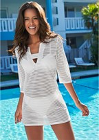 stripe tunic cover-up
