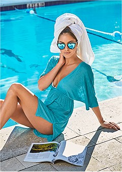 deep v cover-up tunic