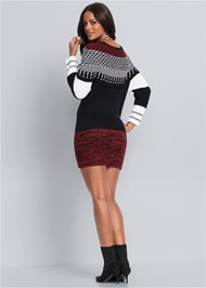 Back View Cozy Sweater Dress