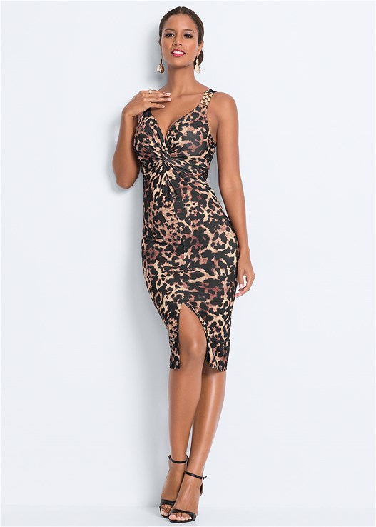 LEOPARD BODYCON DRESS,EVERYDAY YOU STRAPLESS BRA