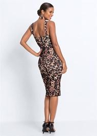 Back View Leopard Bodycon Dress