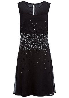 plus size sequin detail party dress