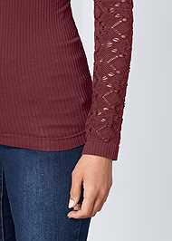 Alternate View Seamless Mock Neck Top