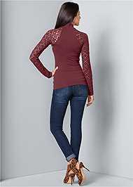 Back View Seamless Mock Neck Top