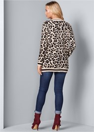Back View Leopard Cardigan