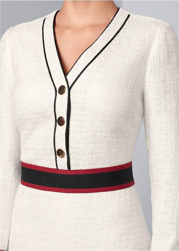 Alternate View Button Detail Dress