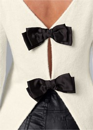 Alternate View Bow Detail Sweater