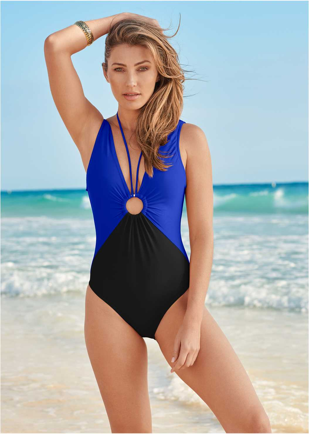 Deep V Ring One-Piece