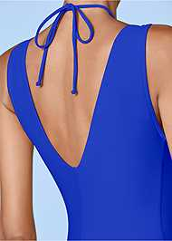 Detail back view Deep V Ring One-Piece