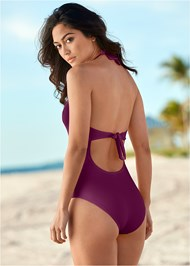 Back View Beaded Crochet One-Piece