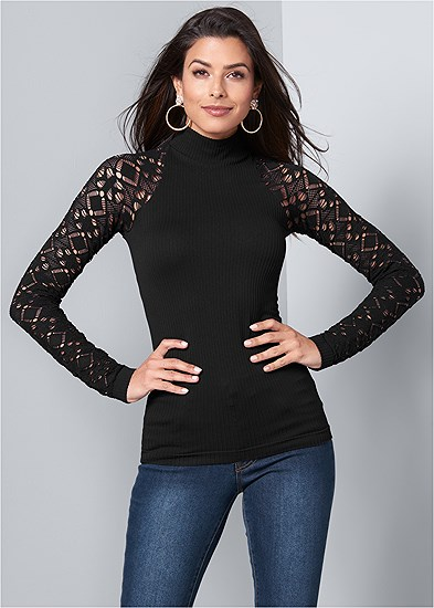 Seamless Mock Neck Top
