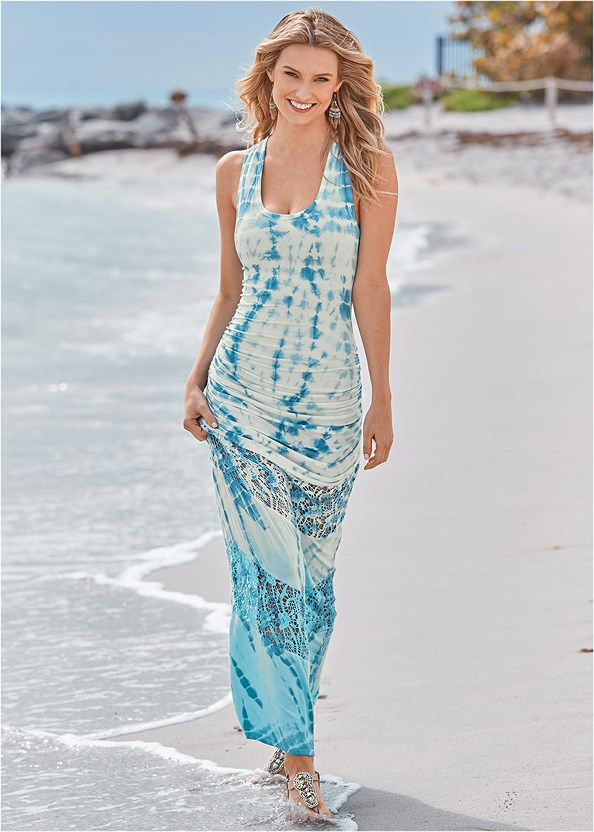 Lace Detail Tie Dye Maxi,Strap Solutions
