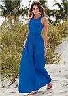 Front View Maxi Dress With Pockets