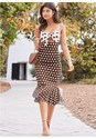 Front View Polka Dot Dress
