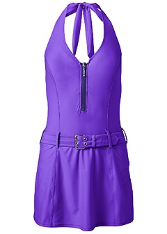 plus size slimming swim dress