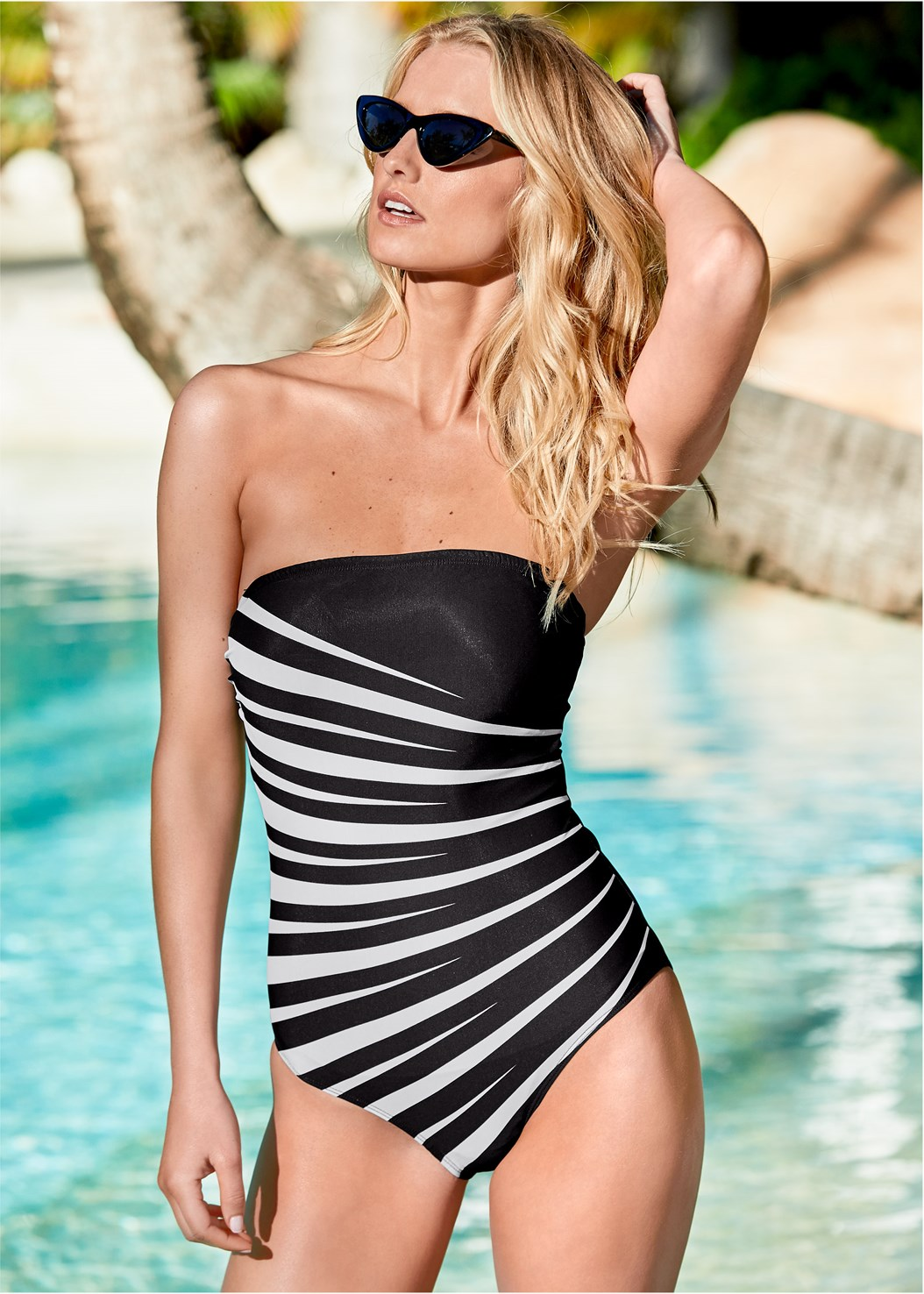 Slenderizing One-Piece,Off The Shoulder Cover-Up