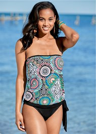Tie Side Blouson Tankini Top